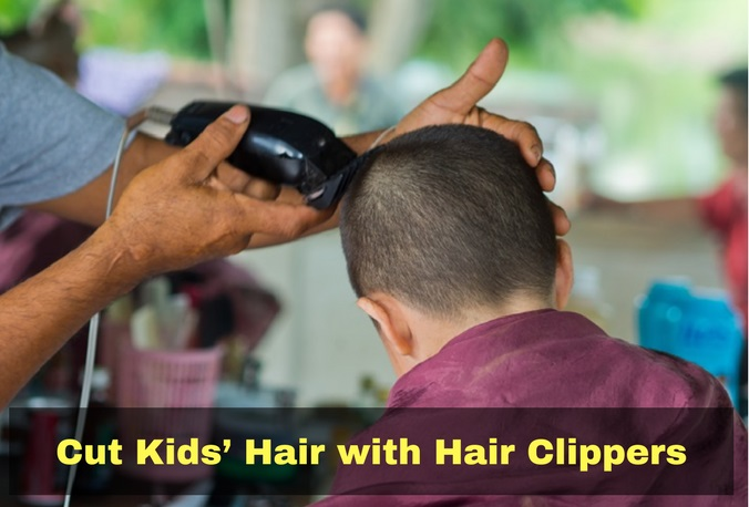 Little boy's clipper haircut